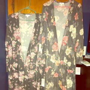 Sweaters - 2 Lularoe size XL Floral Sarah cardigans NEW